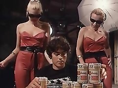 Hottest facial vintage clip with Dominique Aveline and Dominique Saint-Clair