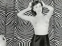Naked Brunette Dances for Audience (1950s Vintage)