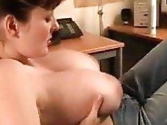 Lorga Morgan showing boobs in the office