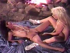 Lesbian Licking At The Bonfire