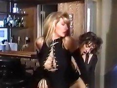 Sexy lesbians with big tits enjoying dildo fucking