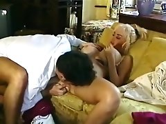 Young Busty Brittany O'Neil fucks butler Big Fake Tits tanlines Blonde