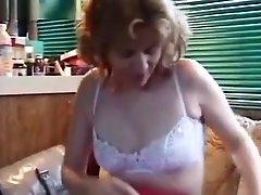 Mature ass probing at home