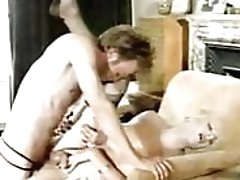 Vintage Blonde Hot Transexual being fucked good by horny man