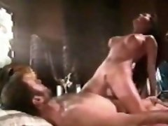 Vintage Asian Riding White Cock