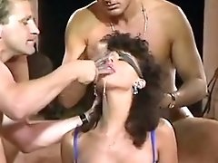 Vintage MILF Swallows A Glass Full Of Cum