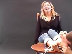 First tickle Audition linda - awesome french girl with hot feet