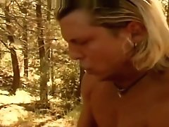hot milf fucked in forest outdoor fuck doggystyle sex big tits cum on tits