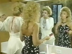 Retro lezzy pornography with two hot blonde horny whores