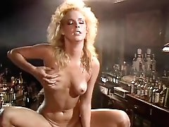 Kathleen Gentry, Joey Silvera in 70s porno shows mad love making scene in the bar
