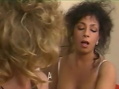 Tracy Adams eating hairy coochie in sapphic fucky-fucky