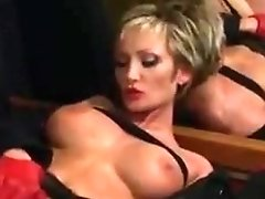 amazing short-haired MILF Monica Baldini in action
