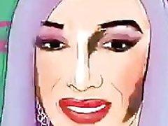 Cartoon drag queen