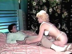 Retro stockings dame hardly drilled