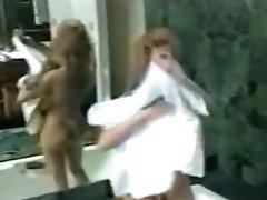 Huge Fake Tits Taking a Bath