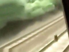 in a train cumshot