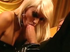 double fuck and two facials for the girl in rubber