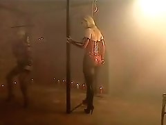 Fucking in leather swing a great blond