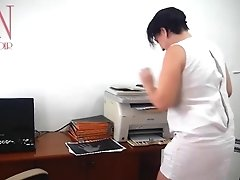 SEXRETARY Secretary scans boobs and pussy on MFP in office 1
